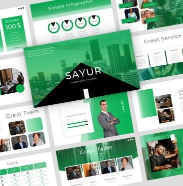 Presentation Templates: sayur - PowerPoint Presentation Template #08073