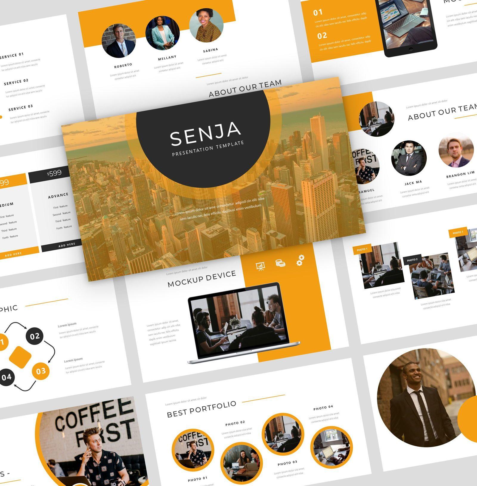 Senja - PowerPoint Presentation Template, 08074, Presentation Templates — PoweredTemplate.com