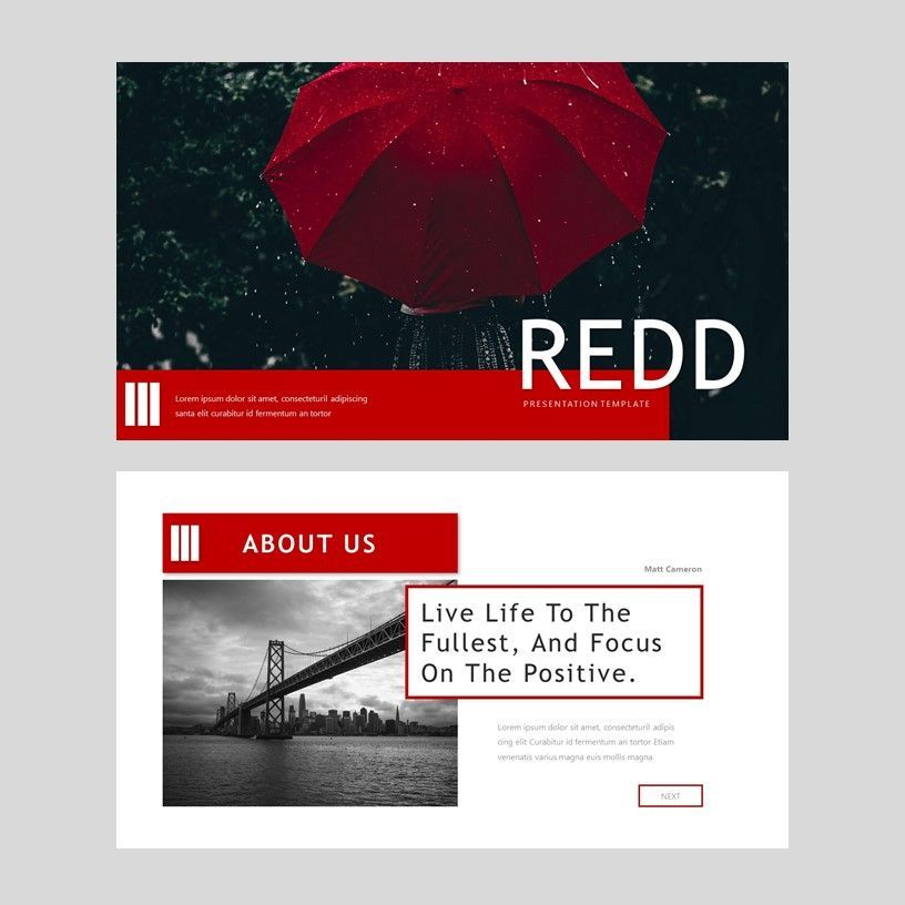 Redd - PowerPoint Presentation Template, Slide 10, 08078, Presentation Templates — PoweredTemplate.com