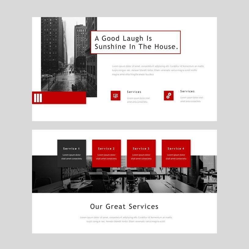 Redd - PowerPoint Presentation Template, Slide 5, 08078, Presentation Templates — PoweredTemplate.com