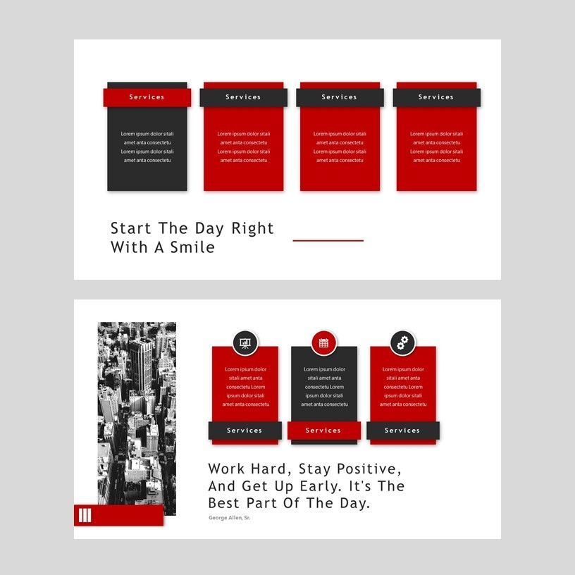 Redd - PowerPoint Presentation Template, Slide 6, 08078, Presentation Templates — PoweredTemplate.com
