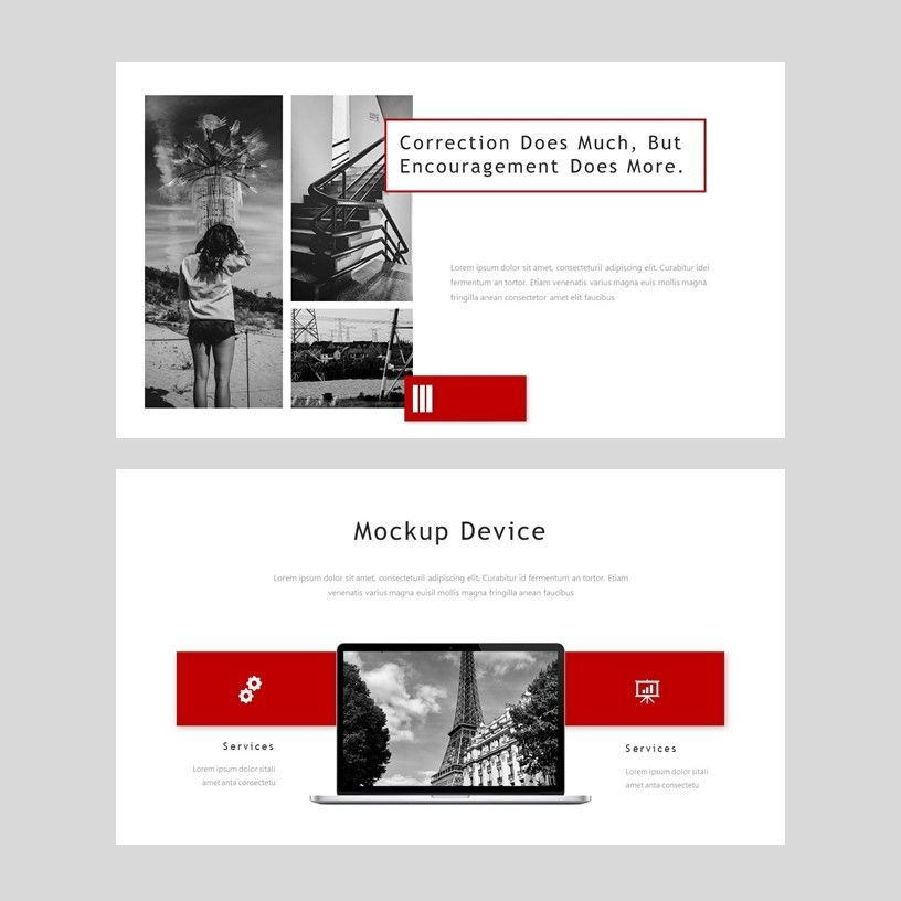 Redd - PowerPoint Presentation Template, Slide 8, 08078, Presentation Templates — PoweredTemplate.com