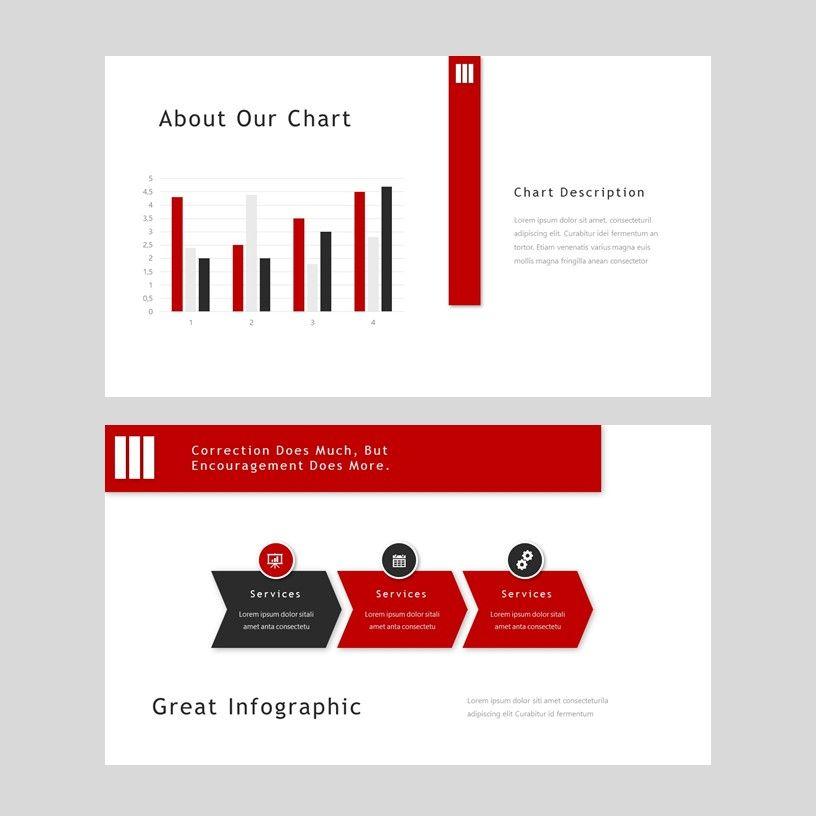 Redd - PowerPoint Presentation Template, Slide 9, 08078, Presentation Templates — PoweredTemplate.com