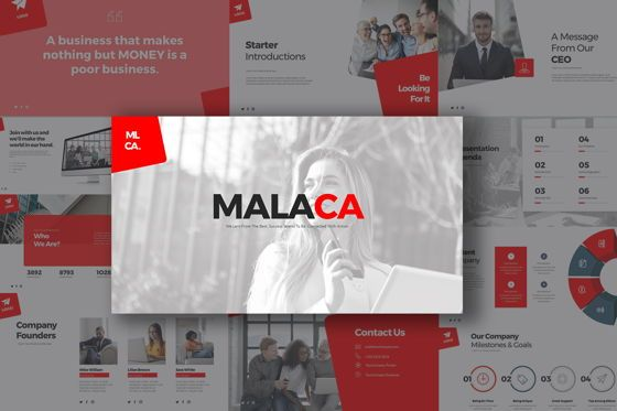 Business Models: Malaca Google Slide Templates #08079