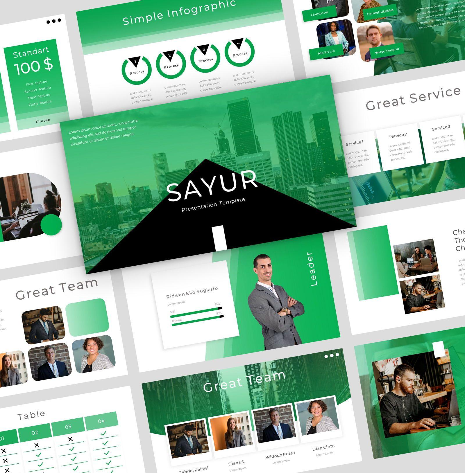 sayur - Google Slide Presentation Template, 08084, Presentation Templates — PoweredTemplate.com