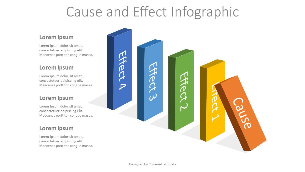 Cause and Effect Infographic, 08088, Business Models — PoweredTemplate.com