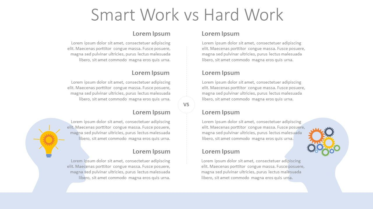 Smart Work vs Hard Work, Slide 2, 08089, Infographics — PoweredTemplate.com