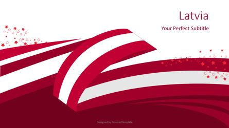 Presentation Templates: Latvia Festive State Flag #08091