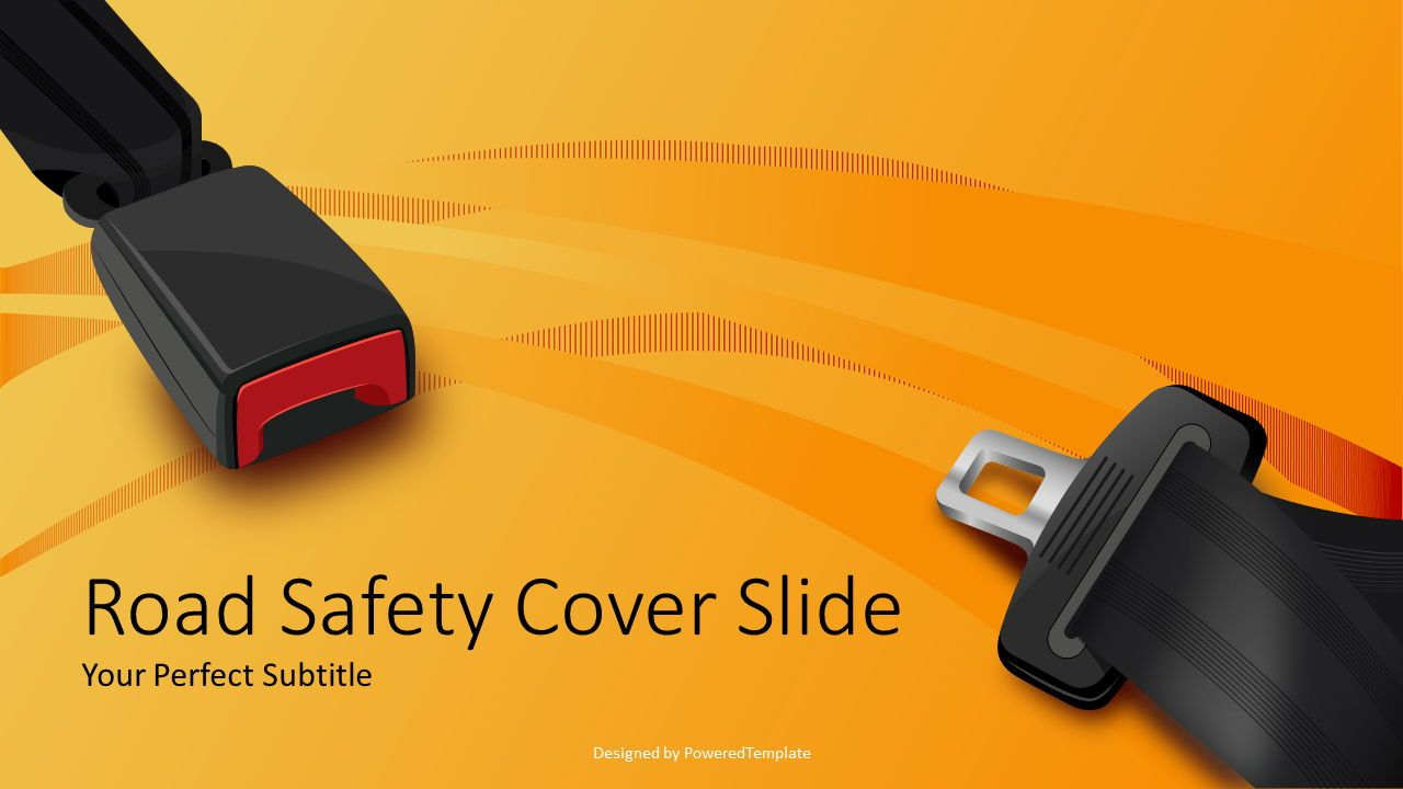 Road Safety 2 Slide Template, 08092, Presentation Templates — PoweredTemplate.com
