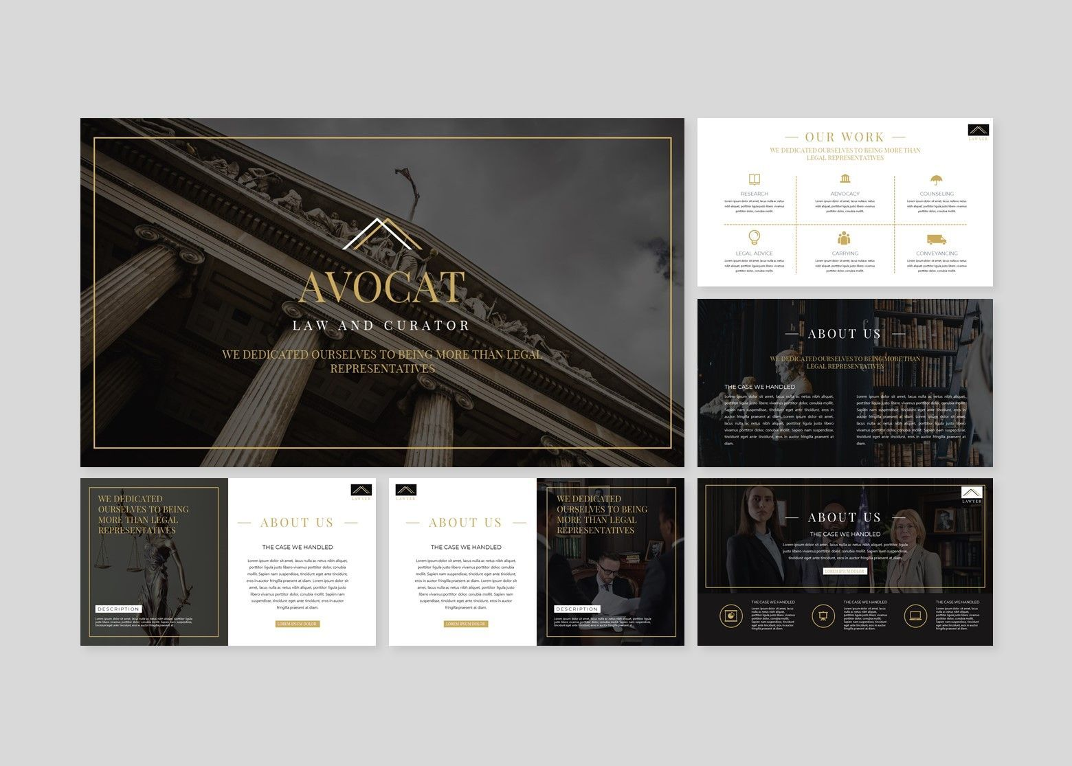 Avocat Lawyer Google Slides Template, Slide 2, 08095, Business Models — PoweredTemplate.com