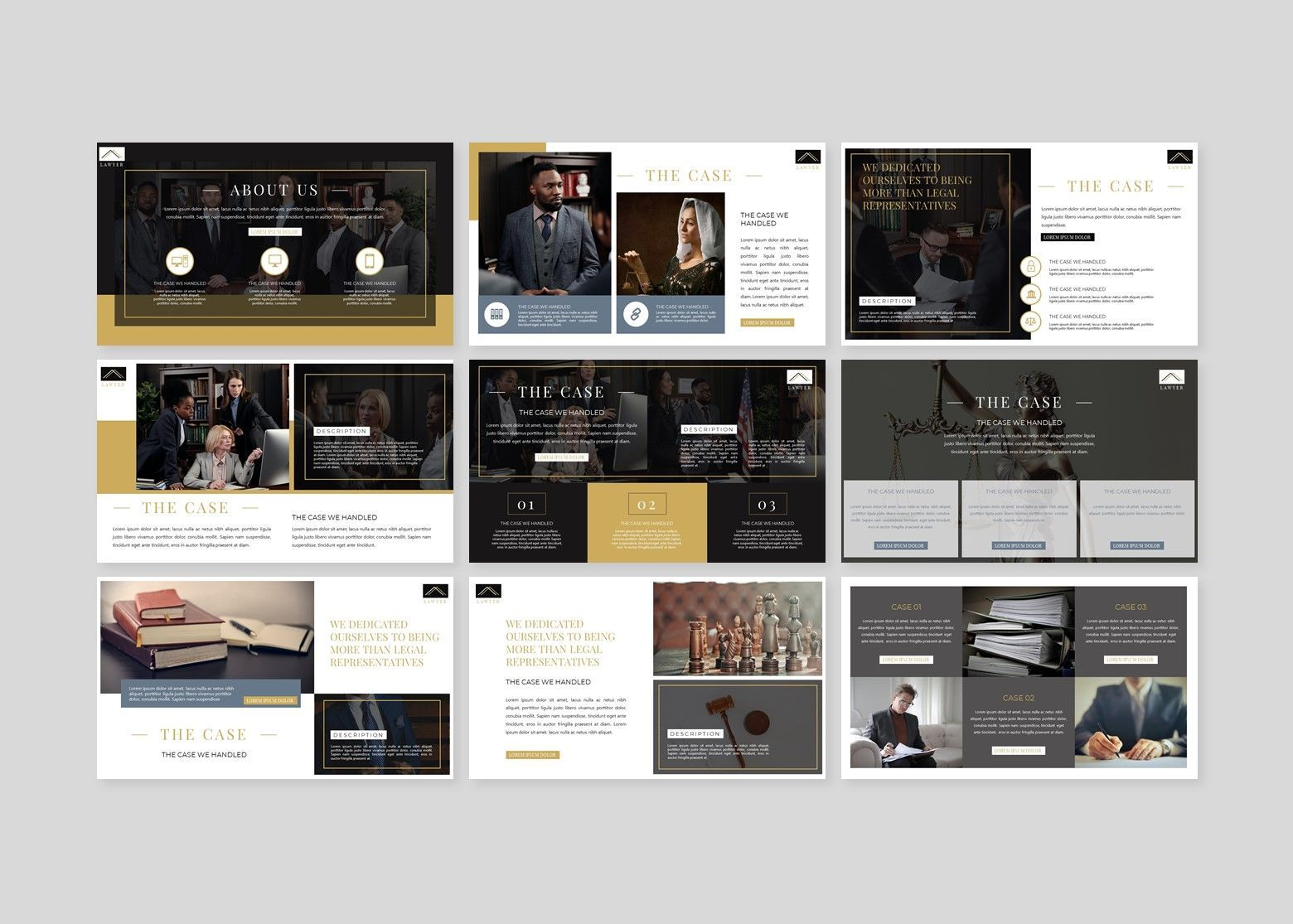 Avocat Lawyer Google Slides Template, Slide 3, 08095, Business Models — PoweredTemplate.com