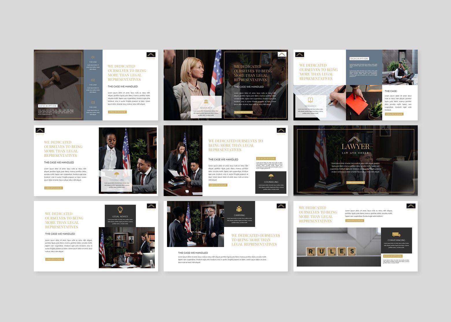 Avocat Lawyer Google Slides Template, Slide 4, 08095, Business Models — PoweredTemplate.com