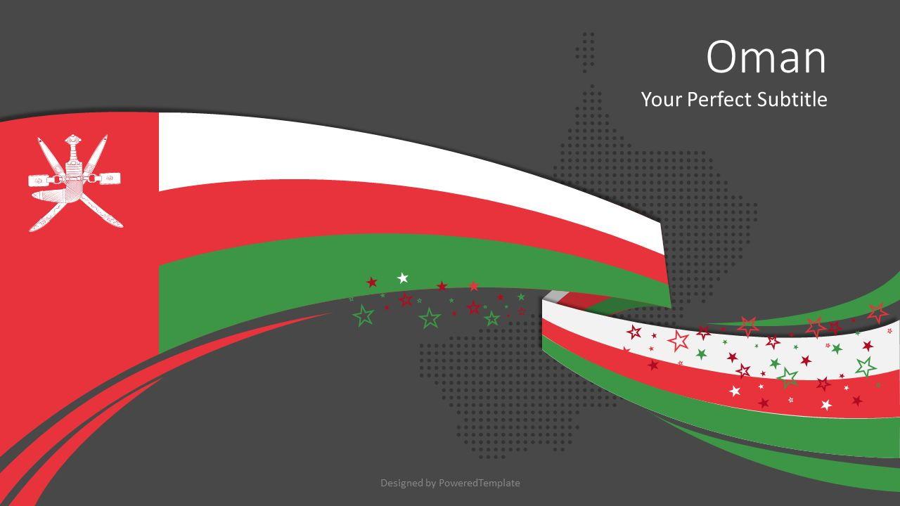 Oman Festive Flag Cover Slide, Slide 2, 08096, Presentation Templates — PoweredTemplate.com