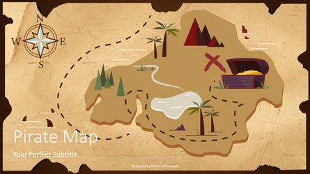 Presentation Templates: Pirate Map Cover Slide #08097