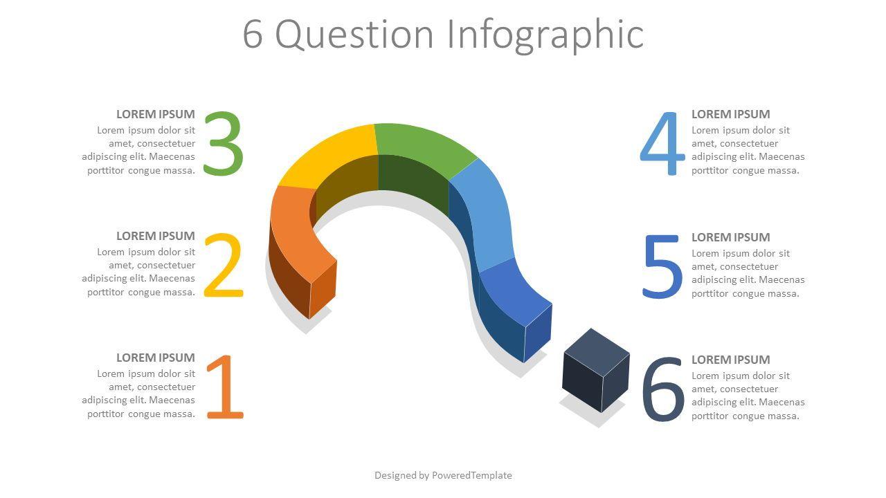 6 Question Infographic, Slide 2, 08098, Infographics — PoweredTemplate.com