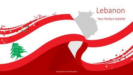 Presentation Templates: Lebanon Festive State Flag #08104