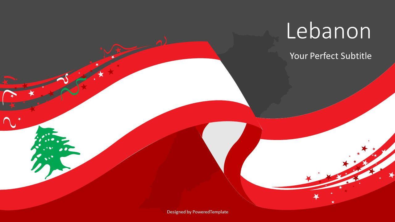 Lebanon Festive State Flag, Slide 2, 08104, Presentation Templates — PoweredTemplate.com
