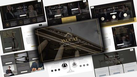 Business Models: Avocat Lawyer PowerPoint Template #08106