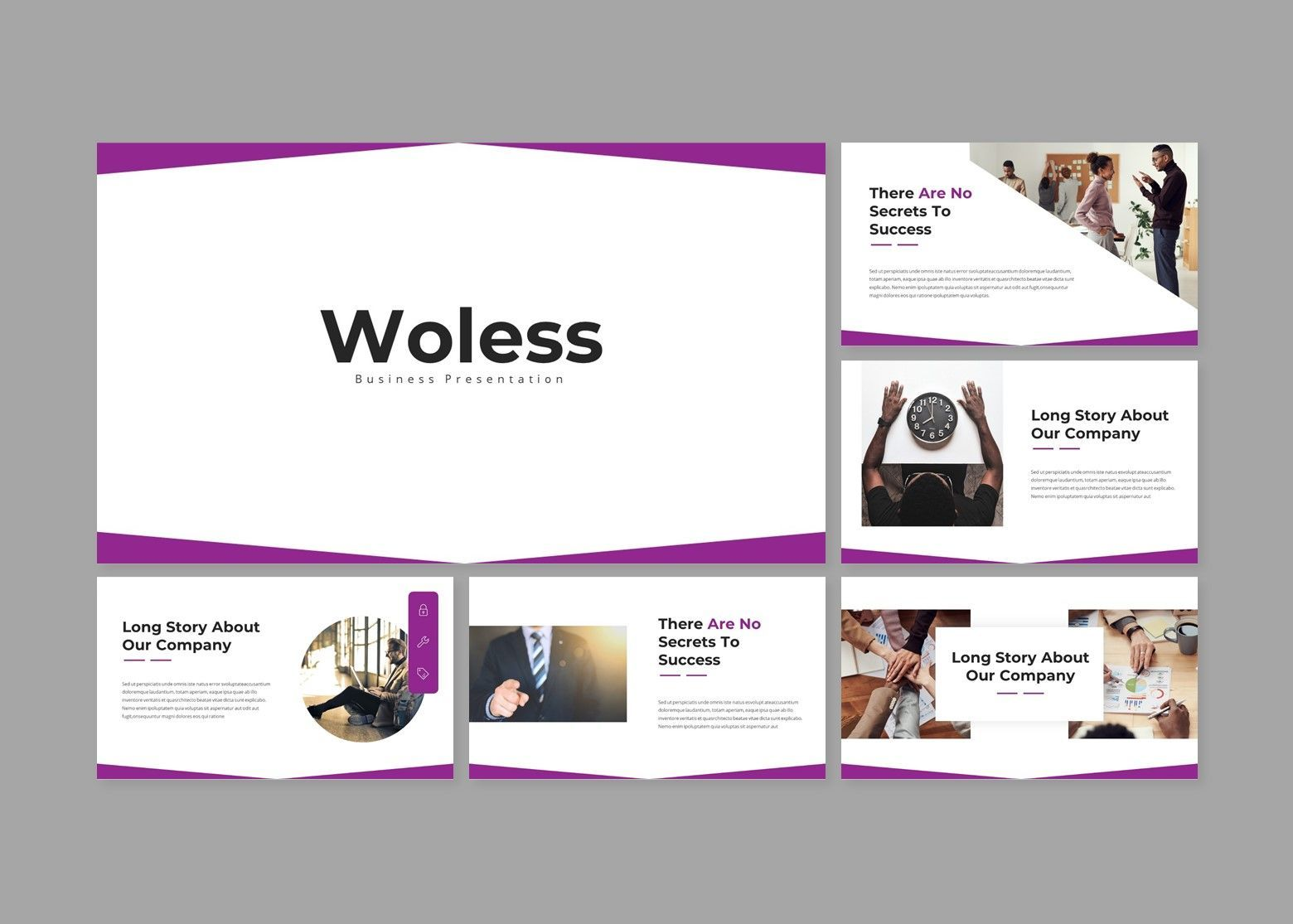 Woless Business Google Slides Template, Slide 2, 08109, Business Models — PoweredTemplate.com