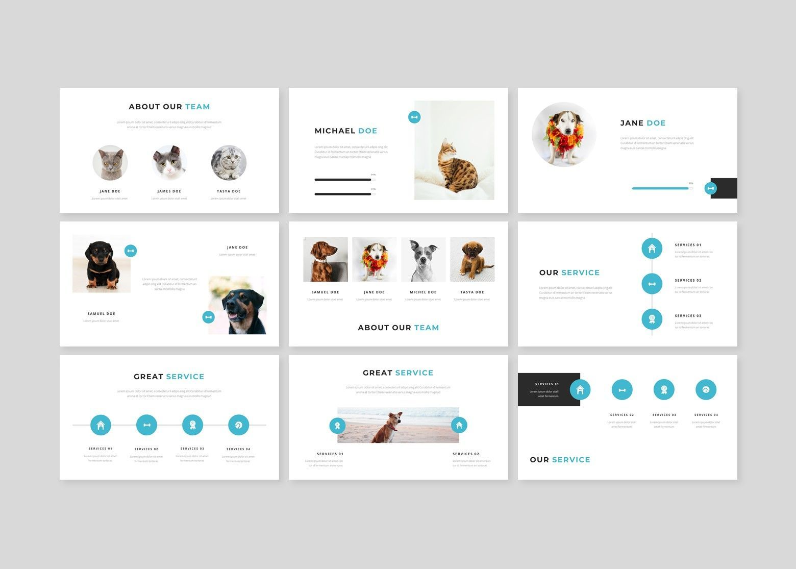 Wrog A Pet Service Google Slides, Slide 3, 08110, Business Models — PoweredTemplate.com