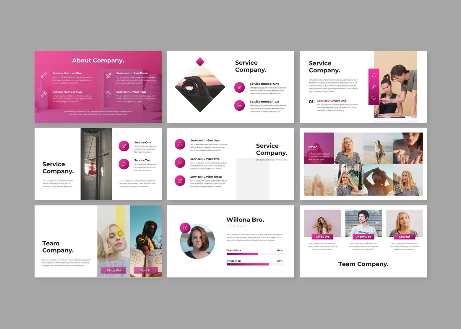 Crooz Creative Google Slides Template, Slide 2, 08112, Business Models — PoweredTemplate.com