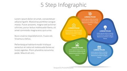 Infographics: 5 Steps Cycle Diagram #08113