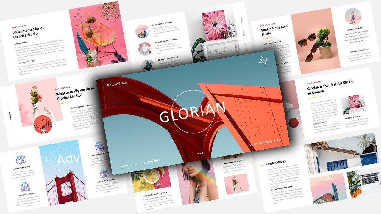 Glorian Creative Business PowerPoint Template, 08115, Business Models — PoweredTemplate.com