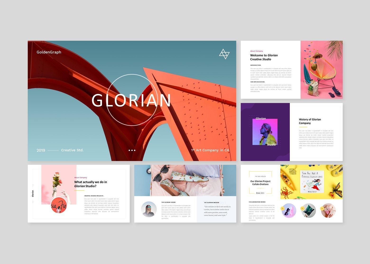 Glorian Creative Business PowerPoint Template, Slide 2, 08115, Business Models — PoweredTemplate.com