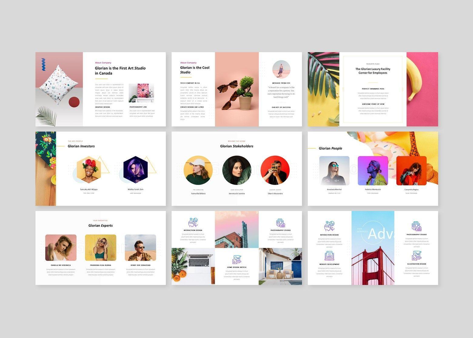 Glorian Creative Business PowerPoint Template, Slide 3, 08115, Business Models — PoweredTemplate.com
