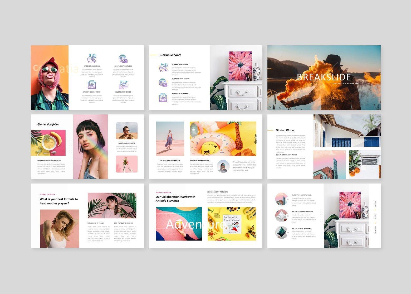 Glorian Creative Business PowerPoint Template, Slide 4, 08115, Business Models — PoweredTemplate.com