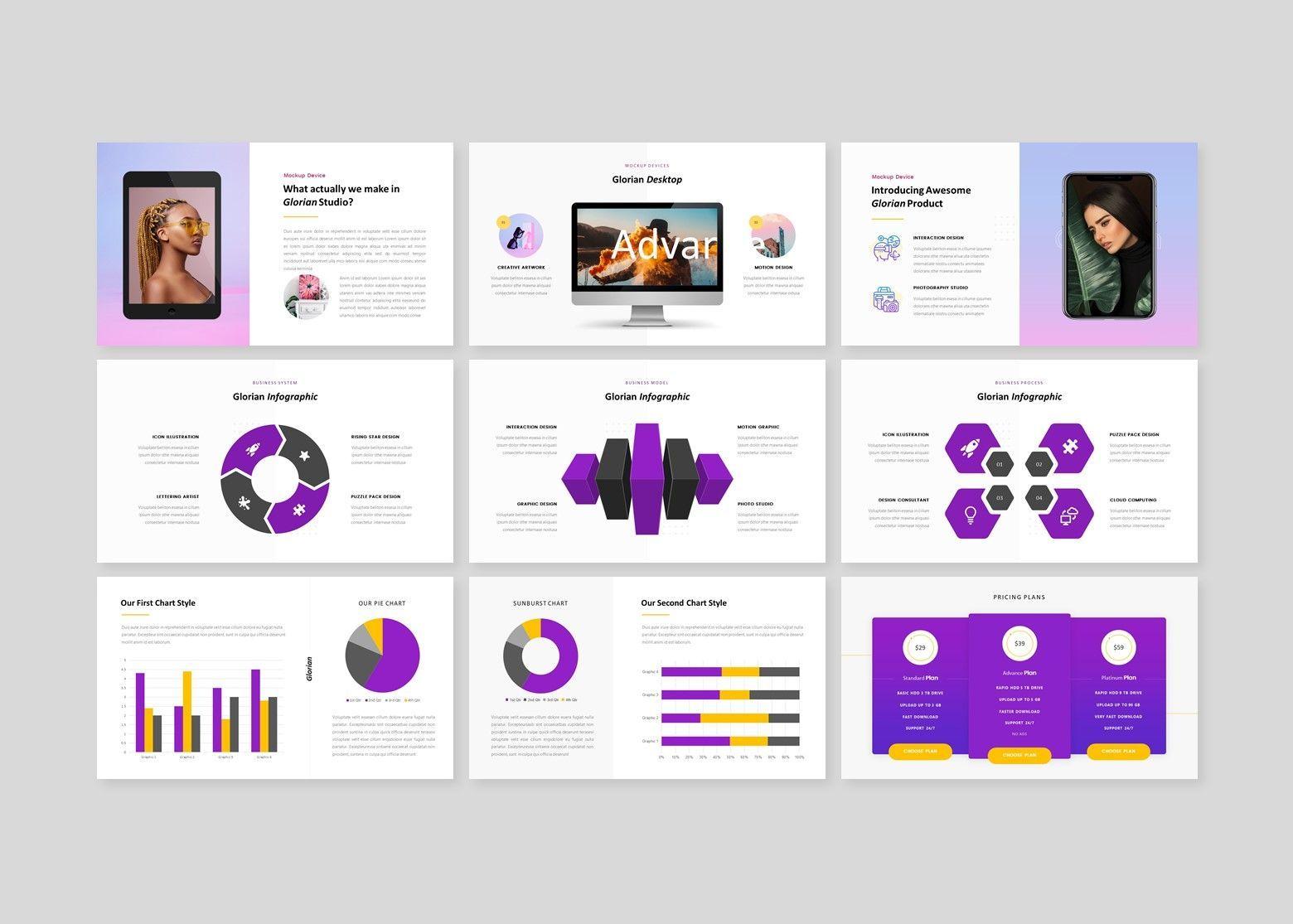 Glorian Creative Business PowerPoint Template, Slide 5, 08115, Business Models — PoweredTemplate.com