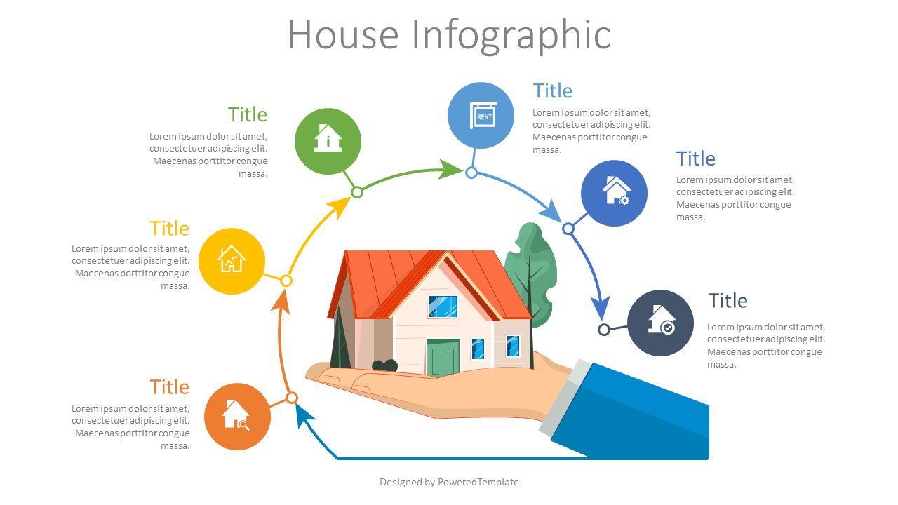 Real Estate Process Diagram, 08116, Infographics — PoweredTemplate.com