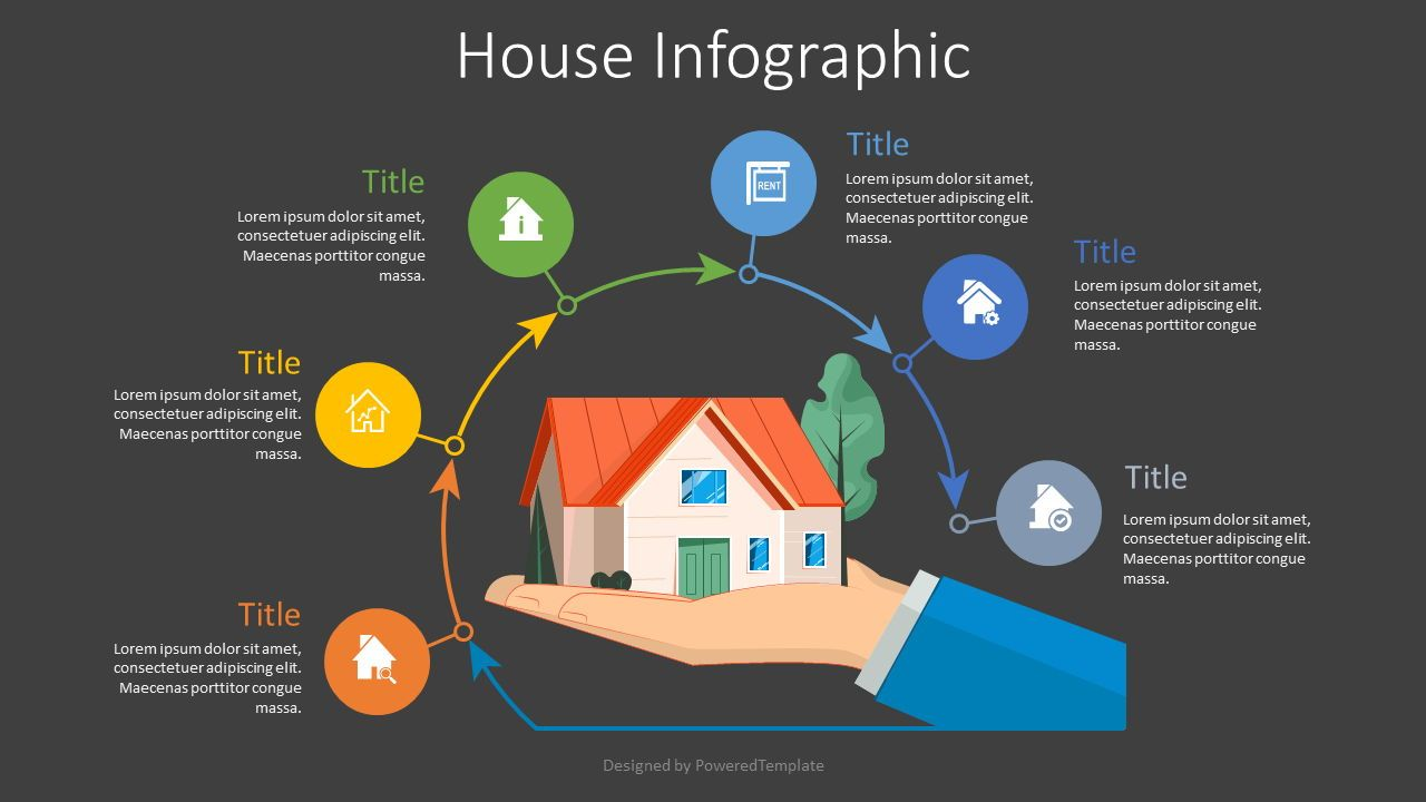 Real Estate Process Diagram, Slide 2, 08116, Infographics — PoweredTemplate.com