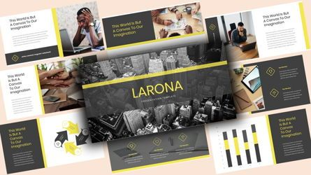 Business Models: Larona Creative PowerPoint Template #08118