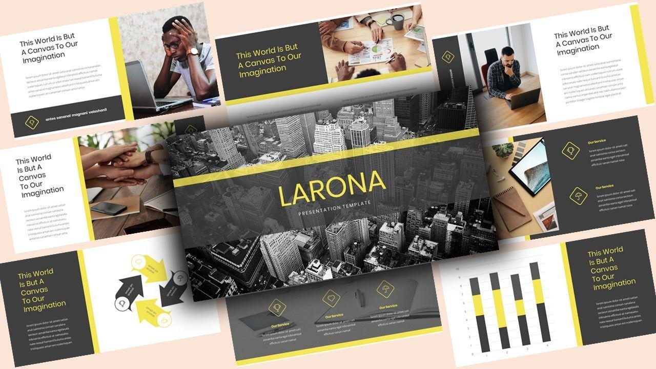 Larona Creative PowerPoint Template, 08118, Business Models — PoweredTemplate.com
