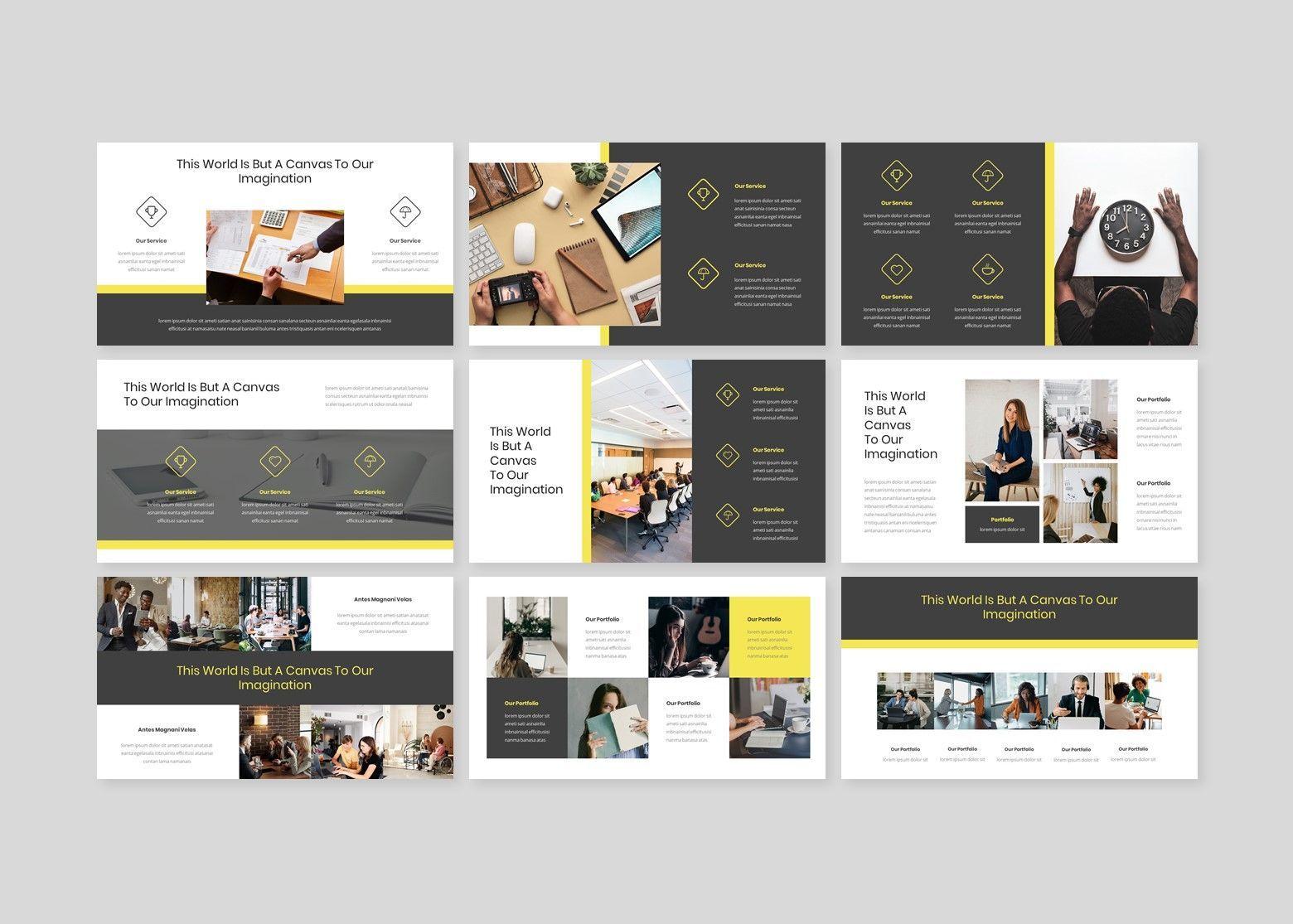 Larona Creative PowerPoint Template, Slide 3, 08118, Business Models — PoweredTemplate.com