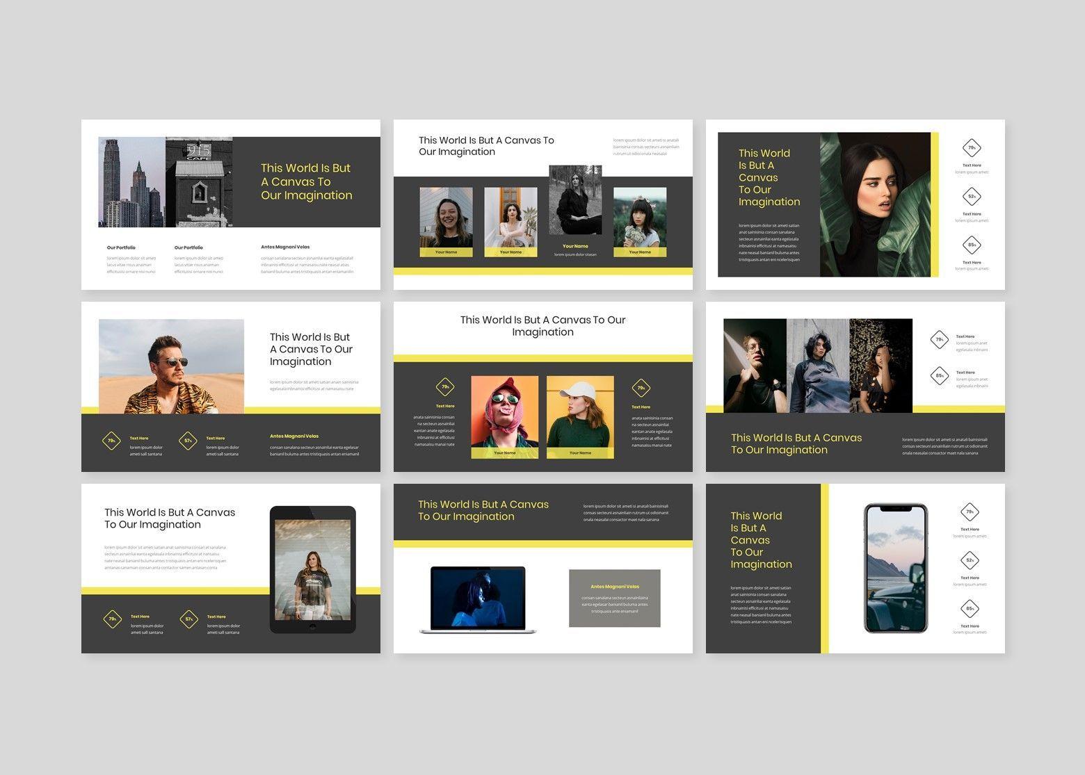 Larona Creative PowerPoint Template, Slide 4, 08118, Business Models — PoweredTemplate.com