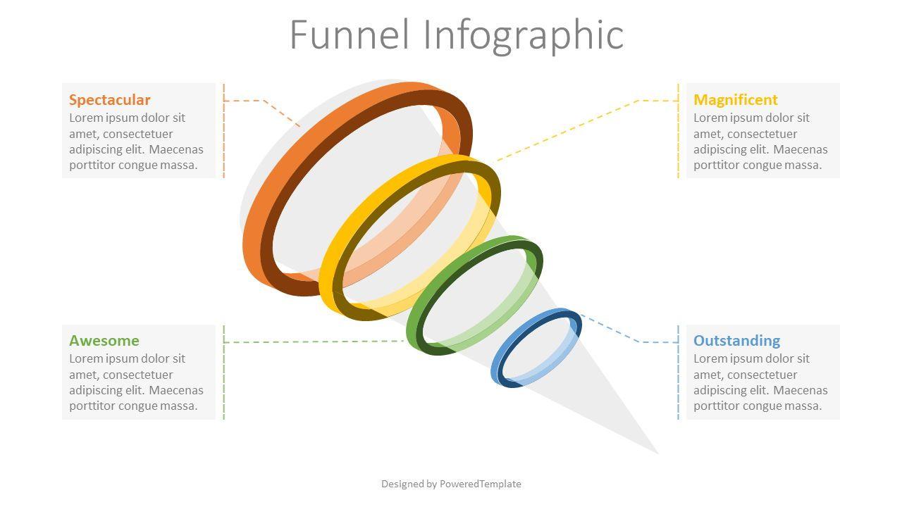 4 Level Funnel Diagram, Slide 2, 08119, Infographics — PoweredTemplate.com