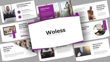 Business Models: Woless Business PowerPoint Template #08121