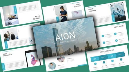Business Models: Aion Corporate PowerPoint Template #08122