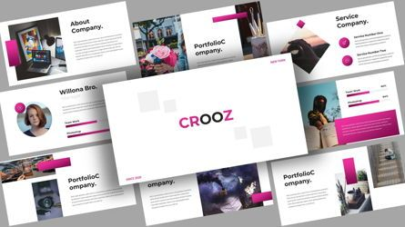 Business Models: Crooz Creative PowerPoint Template #08123
