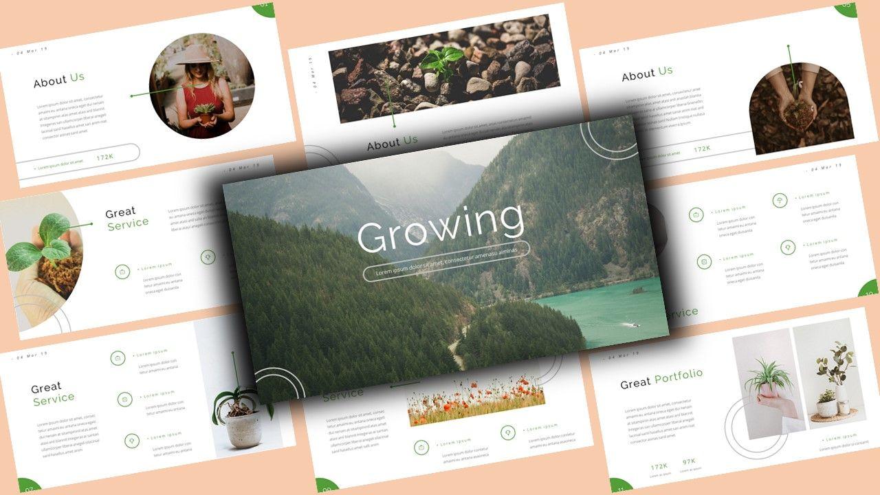 Growi Business Google Slides Template, 08127, Business Models — PoweredTemplate.com