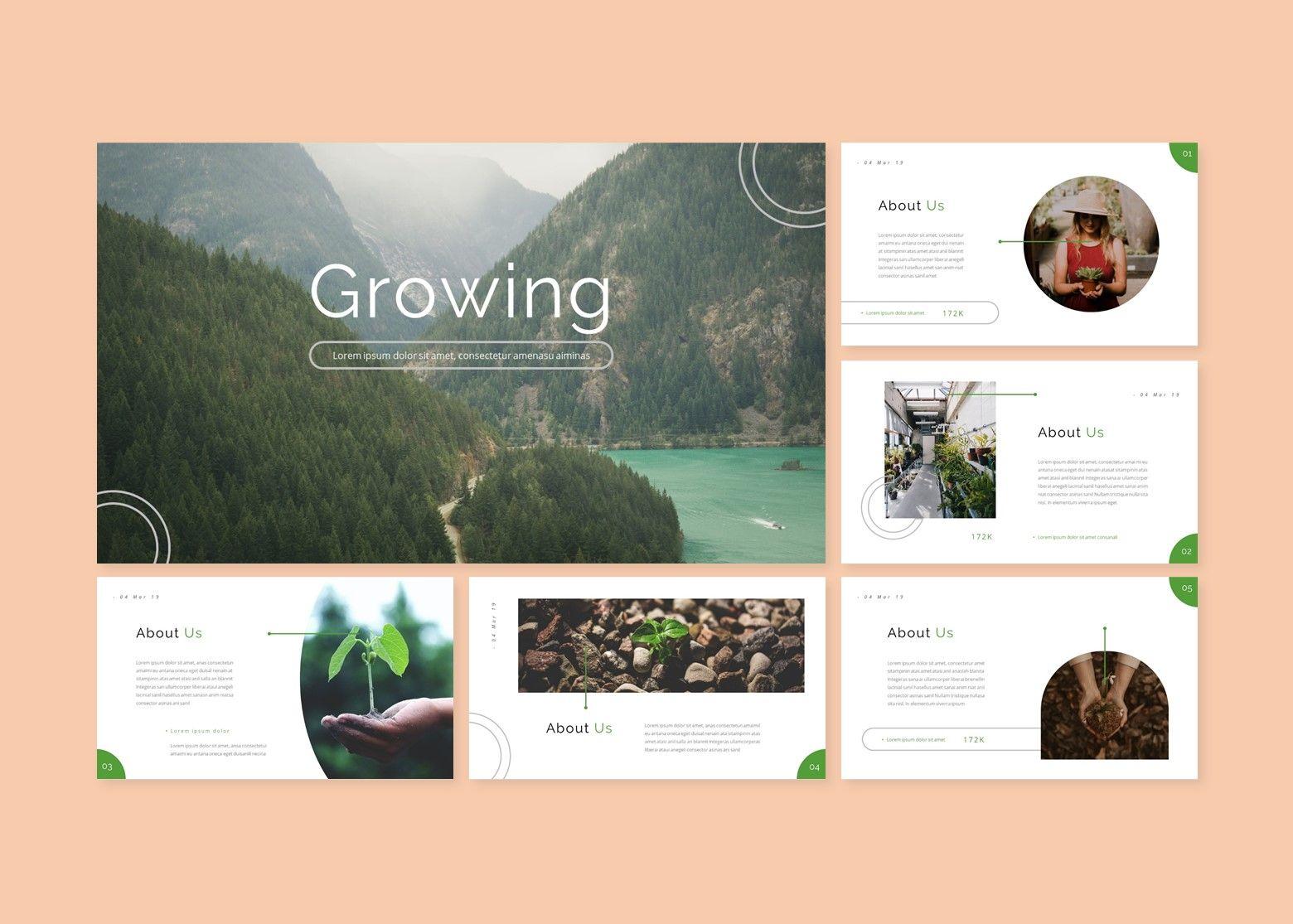 Growi Business Google Slides Template, Slide 2, 08127, Business Models — PoweredTemplate.com