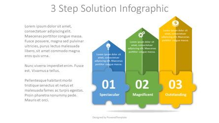 Infographics: 3 Step Solution Infographic #08130