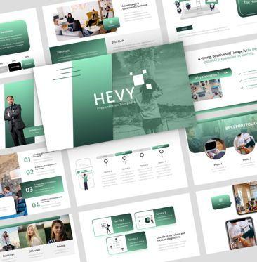 Presentation Templates: Hevy - PowerPoint Presentation Template #08132