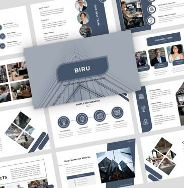 Presentation Templates: Biru - Google Slide Presentation Template #08133