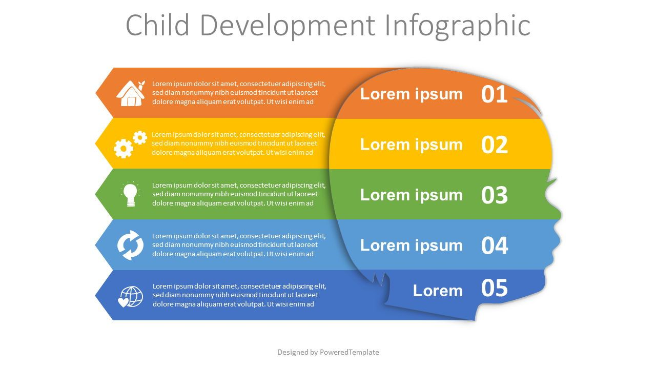 Child Development Infographic, 08137, Education Charts and Diagrams — PoweredTemplate.com