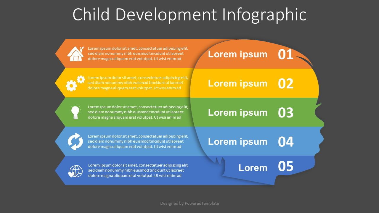 Child Development Infographic, Slide 2, 08137, Education Charts and Diagrams — PoweredTemplate.com