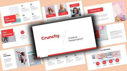 Business Models: Crunchy Creative PowerPoint Template #08141