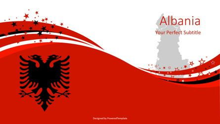 Presentation Templates: Albania State Flag Cover Slide #08143